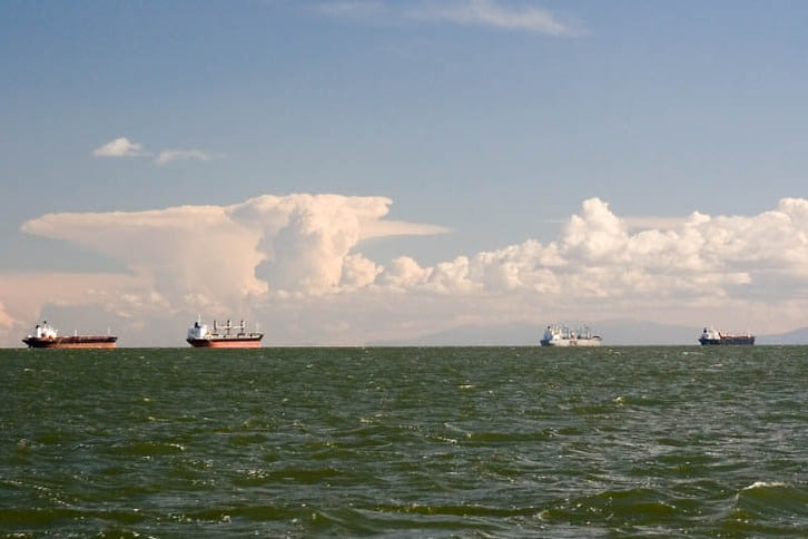 Ships in the General Anchorage