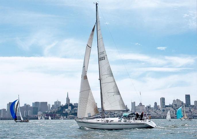 Sloop Ohana Sailing on San Francisco Bay