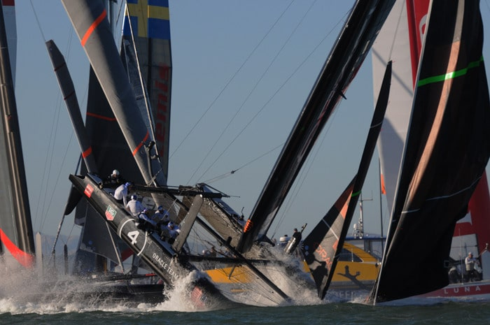 Spithill Capsizes in October 6 America's Cup Race