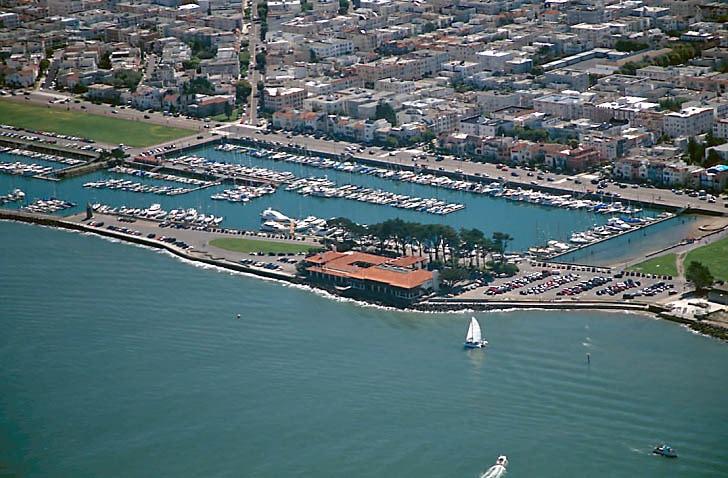 St. Francis Yacht Club Aerial