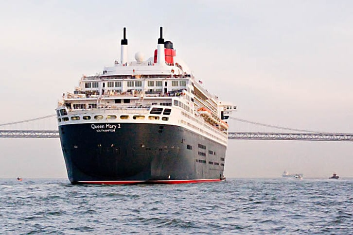 Stern of the Queen Mary 2