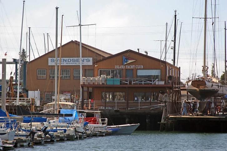 Svendsen's Boatyard and the Island Yacht Club