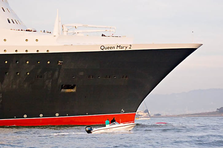 The Queen Mary 2's Bow