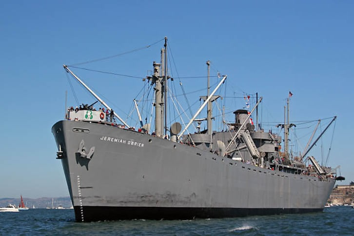 The S.S. Jeremiah O'Brien Liberty Ship at Dock