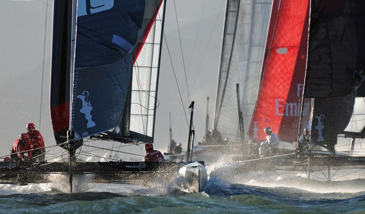 Tight Quarters in the America's Cup World Series