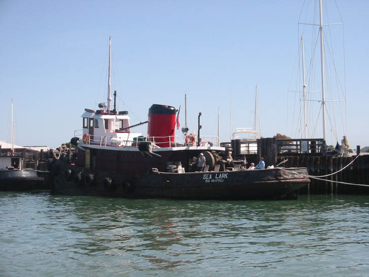 Tug Turned Houseboat in Sausalito Sea Lark