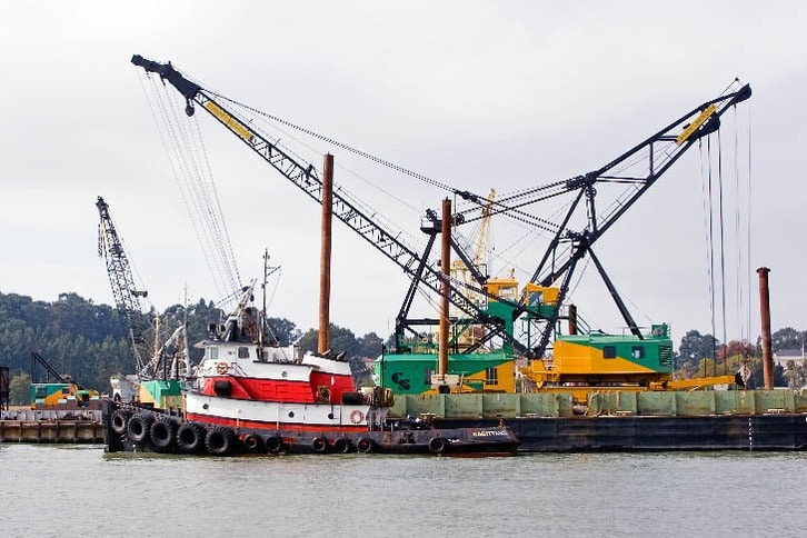 Tug and Cranes at Former Mare Island Shipyard