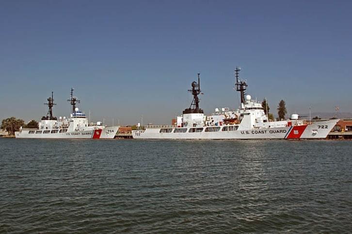 Twin Cutters at Coast Guard Island