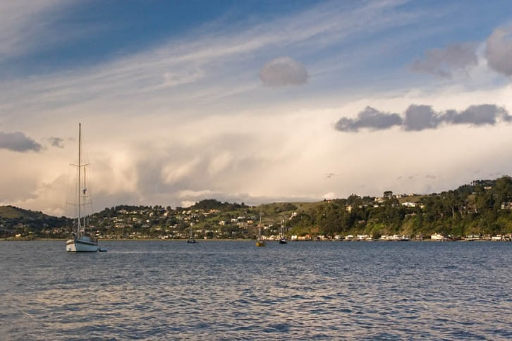 Unusual Cloud Show Over the Richardson Bay Anchorage
