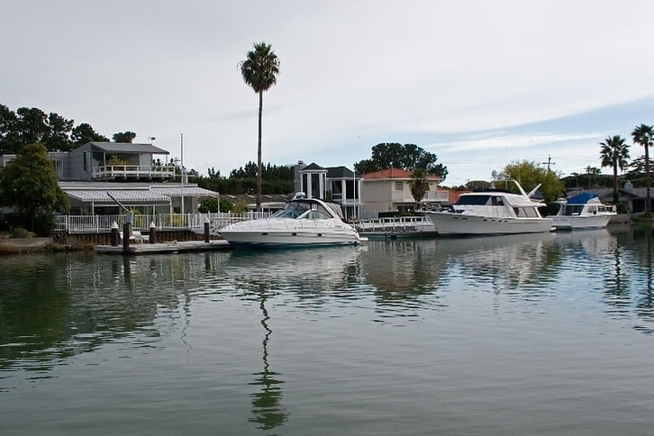 Waterfront Homes Along the San Rafael Canal