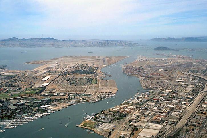Western Oakland Estuary Aerial