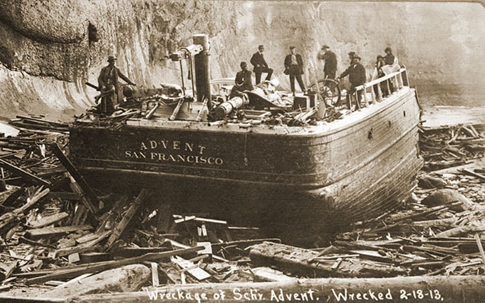Wreck of the Schooner Advent