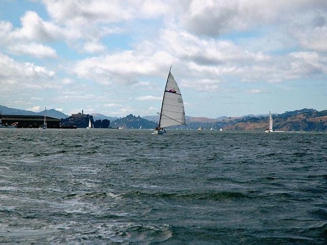 Wyliecat Sailboat Cruising Downwind