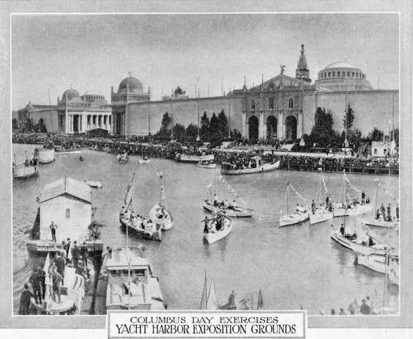 Yacht Harbor at Panama Pacific Exposition