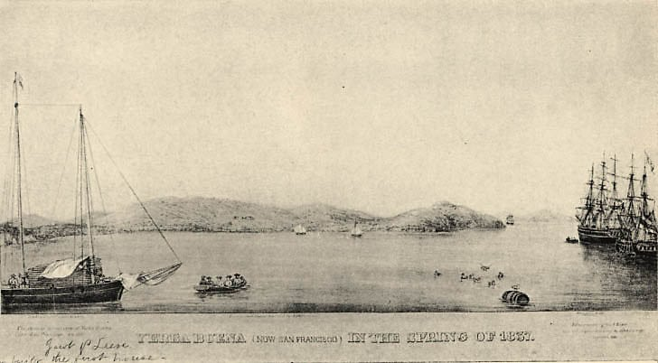 Yerba Buena (now San Francisco) in the Spring of 1837