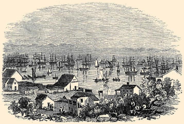 Yerba Buena Cove, Winter of 1849-1850