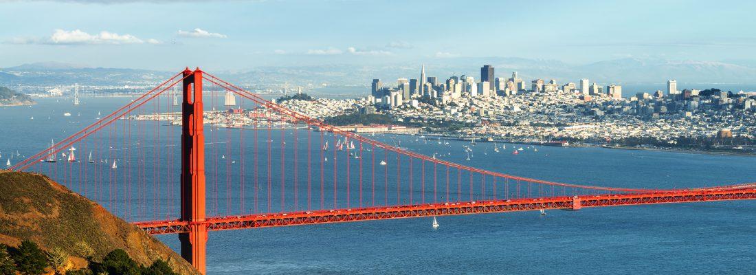 Yachts on San Francisco harbor